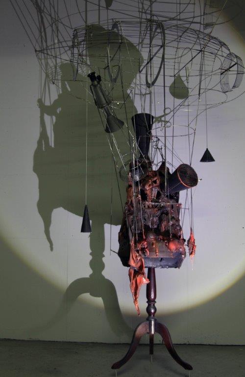 ΑΝΤΩΝΟΠΟΥΛΟΣ ΑΓΓΕΛΟΣ. 'Γεωποιητικός Μηχανισμός', μικτή τεχνική, 185x130x60εκ., 2018.