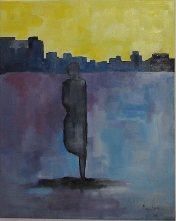 Αρνή Μαίρη, Ευπαθής παρουσία, 50x40cm, Ακρυλικό σε καμβά