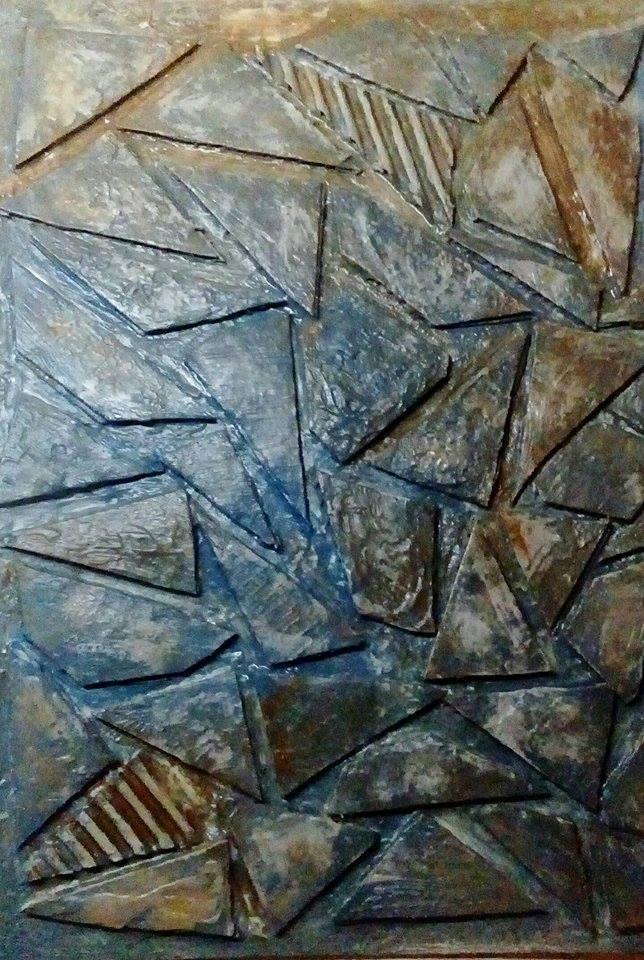 Γκελντή Μίνα, Ευρυγώνια ατραπός, 43x30cm, Μικτή τεχνική
