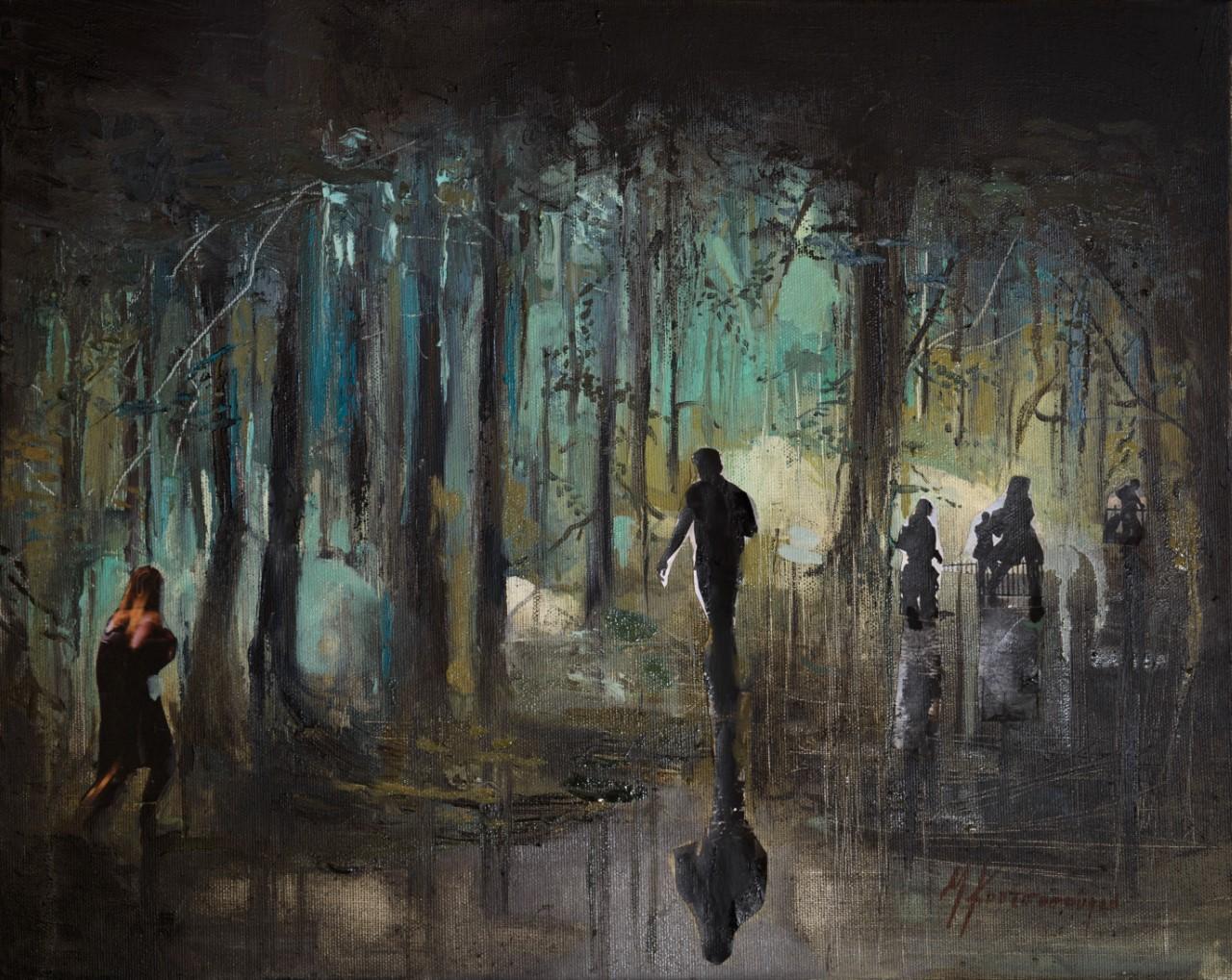 Κουτσοσπύρου Μαρίνα, Εύπλαστος κόσμος, 40x50cm, Λάδι σε καμβά