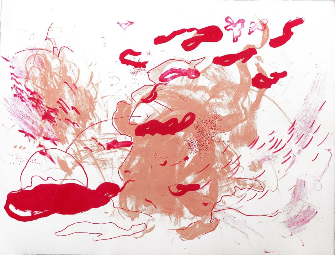 Hanna Schibel, Εὔ-φημος, 37x47cm, Λιθογραφία