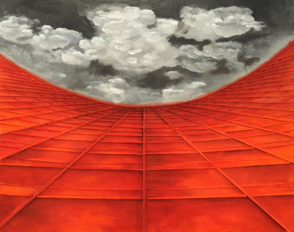 Εβίτα Κανέλλου, Curved Infinity, 80x100cm, Μικτή τεχνική